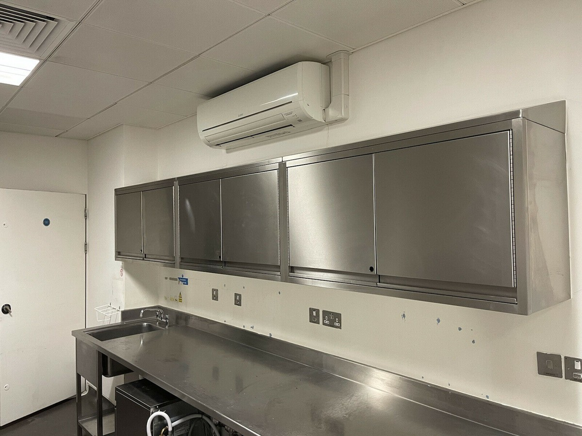 Secondhand Catering Equipment Kitchen Cupboards And Cabinets Commercial Stainless Steel Wall Hung Catering Kitchen Cupboard Sussex